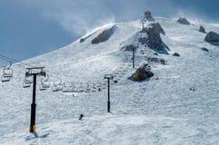 Chairlift 23 på Mammoth Mountain arkivbild