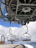 Chairlift platform  Royalty Free Stock Photos