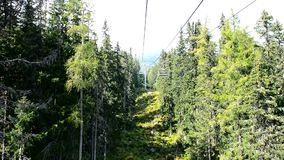 Chairlift ride stock footage