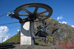A chairlift rotating mechanism Royalty Free Stock Photos