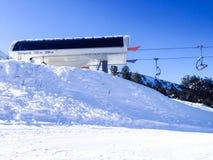 Chairlift Shiligarnik and ski slopes in Bansko, Bulgaria Royalty Free Stock Images
