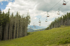 Chairlift ski lift in European Alps. Stock Photography