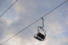 Chairlift at ski resort Royalty Free Stock Photo