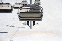 Chairlift on a ski resort Royalty Free Stock Images