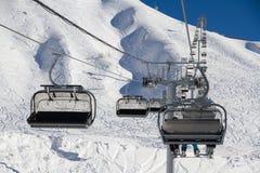 Chairlift in ski resort Krasnaya Polyana, Russia Stock Photo