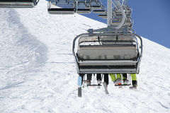 Chairlift on a ski resort Royalty Free Stock Image