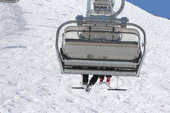 Chairlift on a ski resort Stock Photography