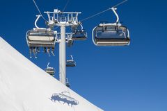 Chairlift on a ski resort Stock Photos
