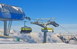 chairlift Skiort Schladming Österreich stockfoto