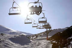 Chairlift in Tatra Mountains near Zakopane. Poland Royalty Free Stock Image