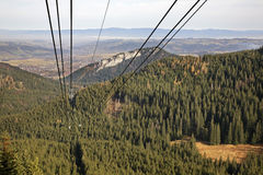 Chairlift in Tatra Mountains near Zakopane. Poland Royalty Free Stock Photo