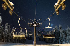 Chairlift to the stars Stock Image