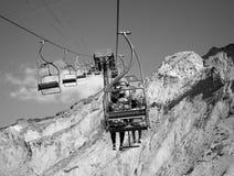 Chairlift upp till överkanten Royaltyfri Fotografi