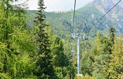 On a chairlift Stock Images