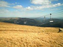 Chairlift w Rumunia Fotografia Royalty Free