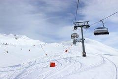 Chairlift, Zillertal in Austria. Chairlift in Alps, Zillertal in Austria Stock Images