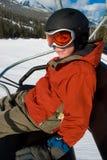 chairliftridning Royaltyfria Bilder