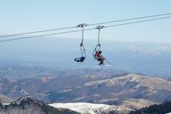 Chairlifts σκι στοκ φωτογραφίες