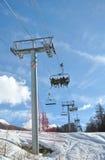 chairlifts χειμώνας στοκ φωτογραφία