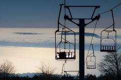 Chairlifts Royalty Free Stock Image