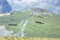 Chairlifts And Mountain Landscape Stock Images