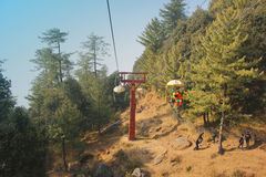 Chairlifts in murree Royalty Free Stock Photo
