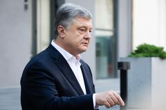 Chairman of the European Solidarity Party Petro Poroshenko. KYIV, UKRAINE - Jun 06, 2019: Ex-President of Ukraine, Chairman of the European Solidarity Party stock photos