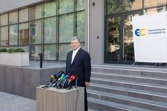 Chairman of the European Solidarity Party Petro Poroshenko. KYIV, UKRAINE - Jun 06, 2019: Ex-President of Ukraine, Chairman of the European Solidarity Party royalty free stock images