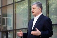 Chairman of the European Solidarity Party Petro Poroshenko. KYIV, UKRAINE - Jun 06, 2019: Ex-President of Ukraine, Chairman of the European Solidarity Party royalty free stock photos