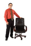 Chairman and his chair Royalty Free Stock Photos