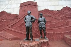 Chairman Mao and Commander in chief of Zhu De Statue, China stock photos