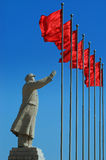 Chairman Mao's Statue. A Statue of China's former Chairman Mao Zedong in the city of Kashgar, China Royalty Free Stock Photography