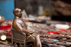 Chairman Mao statue in an antique market Royalty Free Stock Image