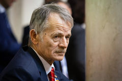 Chairman of Mejlis of the Crimean Tatar People Mustafa Dzhemilev Stock Images