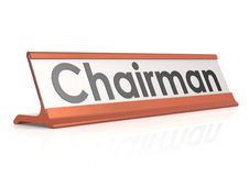 Chairman table tag Stock Photo