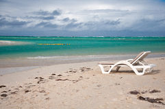 Chairon the  beach Ile aux Cerfs, Mauritius Royalty Free Stock Photography