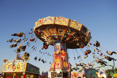 Chairoplane en el Oktoberfest Imagen de archivo