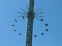 Chairoplane gigante do merry-go-round Imagens de Stock Royalty Free