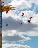 Chairoplane i sky Fotografering för Bildbyråer