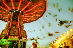Chairoplane at Oktoberfest Royalty Free Stock Image