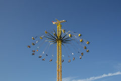 Chairoplane at Oktoberfest in Munich, Germany, 2015 Royalty Free Stock Image