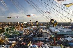 Chairoplane przejażdżka przy Oktoberfest w Monachium, Niemcy, 2016 Fotografia Royalty Free