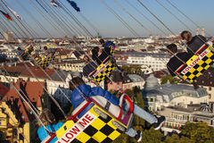Chairoplane ride at Oktoberfest in Munich, Germany, 2015 Stock Photography