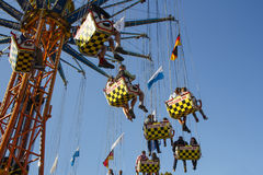 Chairoplane ride at Oktoberfest in Munich, Germany, 2015 Royalty Free Stock Images