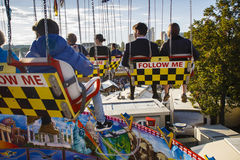 Chairoplane ride at Oktoberfest in Munich, Germany, 2015 Royalty Free Stock Image