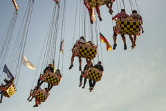 Chairoplane ride at Oktoberfest in Munich, Germany, 2016 Royalty Free Stock Photo