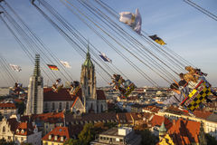Chairoplane ride at Oktoberfest in Munich, Germany, 2016 Royalty Free Stock Photos