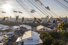 Chairoplane ride at Oktoberfest in Munich, Germany, 2016 Stock Photos