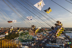 Chairoplane ride at Oktoberfest in Munich, Germany, 2016 Stock Photo