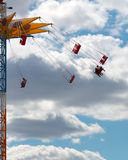 Chairoplane in sky Stock Image